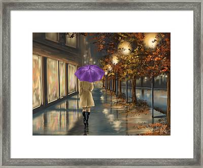 Walking Framed Print by Veronica Minozzi