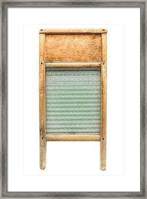 Washboard Framed Print by Olivier Le Queinec