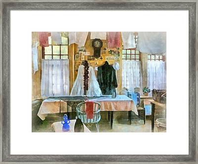 Washday Framed Print by Susan Savad