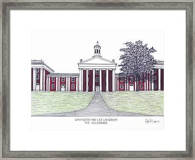 Washington And Lee University Framed Print by Frederic Kohli