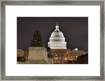 Washington Dc - Us Capitol - 01131 Framed Print by DC Photographer