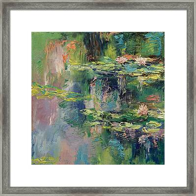 Water Lilies Framed Print by Michael Creese