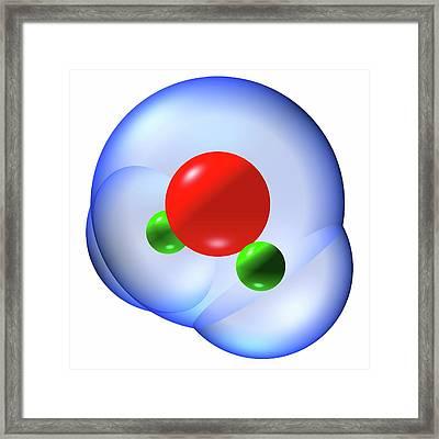 Water Molecule Framed Print by Russell Kightley