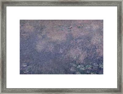 Waterlilies Two Weeping Willows Framed Print by Claude Monet