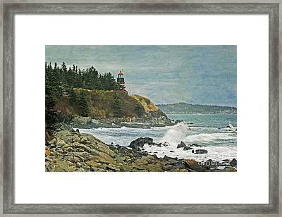 West Quoddy Head Lighthouse Framed Print by Cindi Ressler