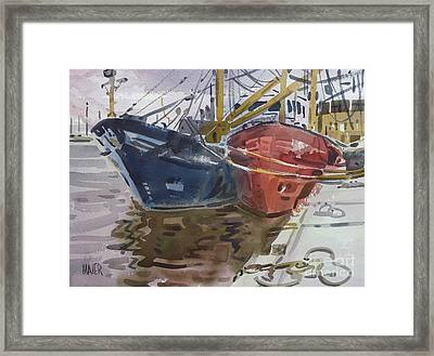 Wexford Fishing Boats Framed Print by Donald Maier
