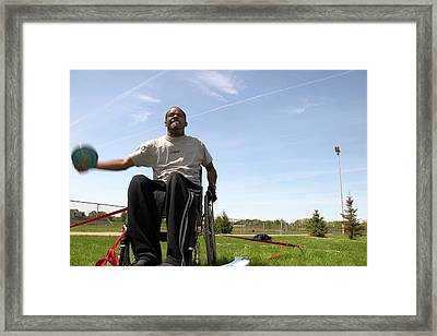 Wheelchair Athletics Framed Print by Jim West