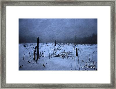 Winter Blues Framed Print by John Stephens