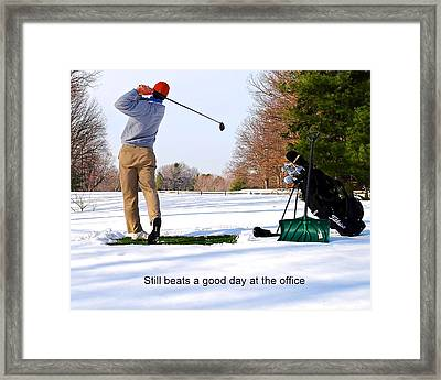 Winter Golf Framed Print by Frozen in Time Fine Art Photography