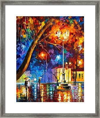 Winter Rain Framed Print by Leonid Afremov