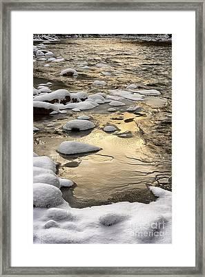 Winter Sunrise Cranberry River Framed Print by Thomas R Fletcher