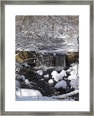 Winter Waterfall Framed Print by Patricia McKay