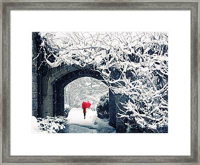 Winter's Lace Framed Print by Jessica Jenney