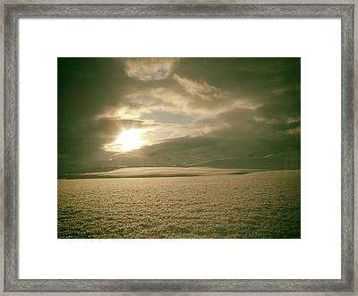 Wintry Norwegian Sunset Framed Print by Mountain Dreams