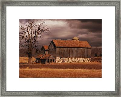 Wisconsin Barn Framed Print by Jack Zulli