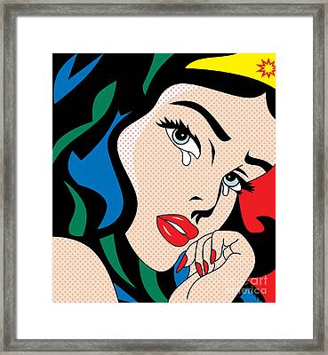 Wonder Woman Framed Print by Mark Ashkenazi