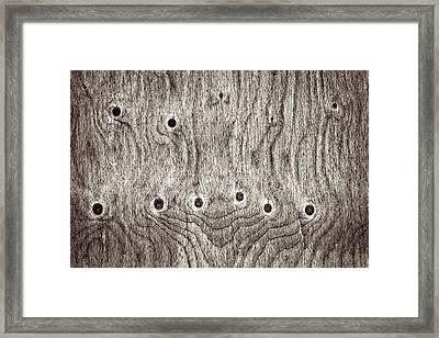 Wooden Background Framed Print by Tom Gowanlock