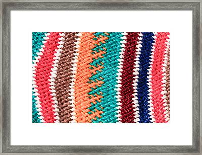 Wool Pattern Framed Print by Tom Gowanlock