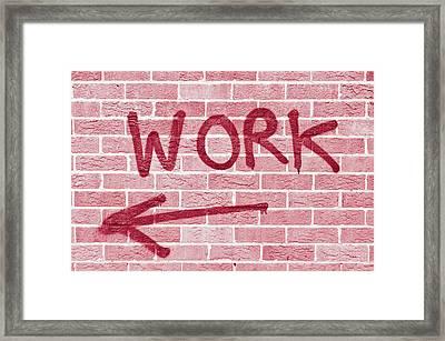 Work Framed Print by Tom Gowanlock