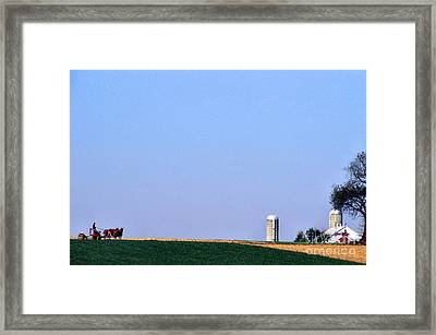Working The Fields Framed Print by Thomas R Fletcher