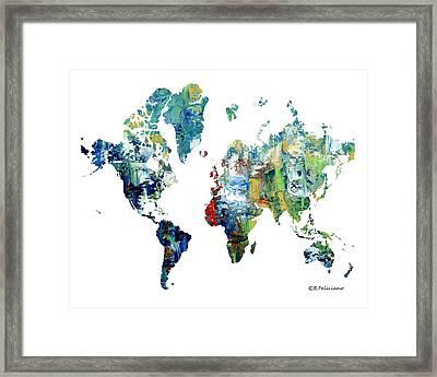 World Atlas  Framed Print by Elena Feliciano