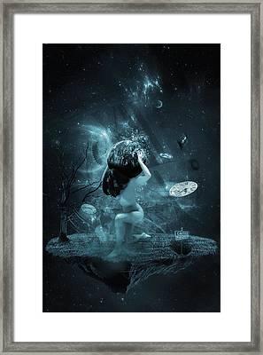 World On My Shoulders Framed Print by Erik Brede