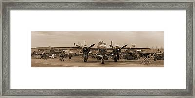 World War II B-25 Bomber Briefing Time  Framed Print by Angelo Rolt