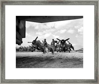 World War II: Okinawa Framed Print by Granger