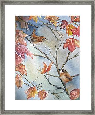 Wren To Wren Framed Print by Patricia Pushaw