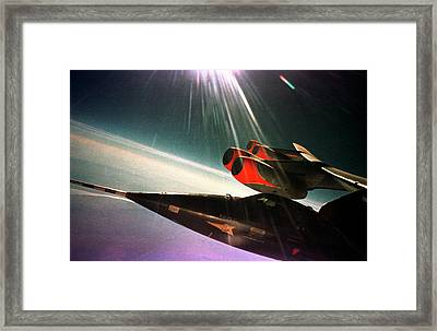X-15 Aircraft On A Boeing B-52 Framed Print by Nasa