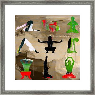 Yoga Poses Framed Print by Marvin Blaine