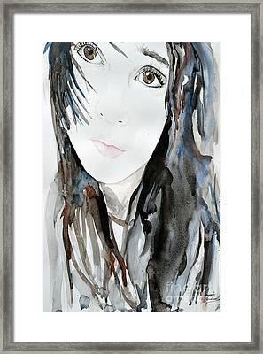 Young Girl Framed Print by Ismeta Gruenwald