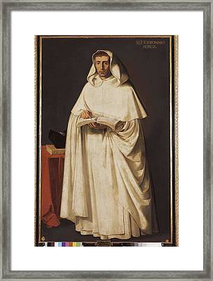 Zurbaran, Francisco De 1598-1664. Fray Framed Print by Everett