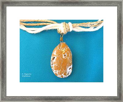 Aphrodite Urania Necklace Framed Print by Augusta Stylianou