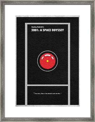 2001 A Space Odyssey Framed Print by Ayse Deniz