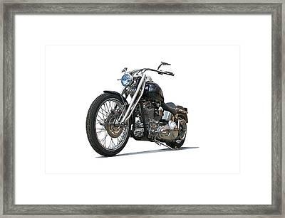 2003 H.d. Softail Custom 6 Framed Print by Dave Koontz