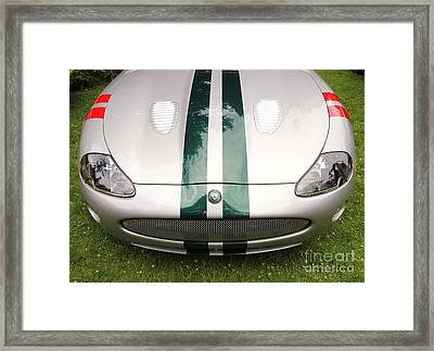 2005 Jaguar Xkr Stirling Moss Signature Edition Framed Print by Allen Beatty