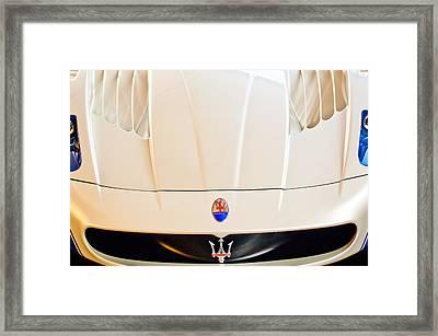 2005 Maserati Mc12 Hood Emblem Framed Print by Jill Reger