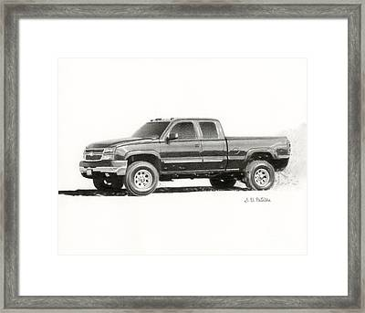 2006 Chevy Silverado 2500 Hd Framed Print by Sarah Batalka