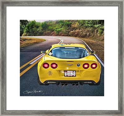 2006 Corvette Framed Print by Sylvia Thornton