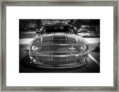 2007 Ford Mustang Shelbygt 500 427 Bw Framed Print by Rich Franco
