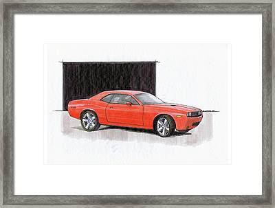 2008 Dodge Challenger Concept Framed Print by Chris Istenes
