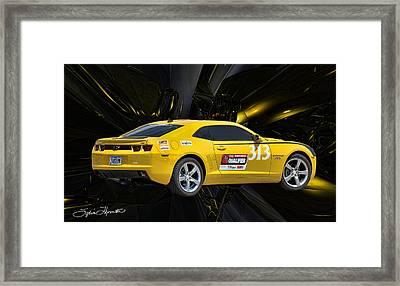 2010 Camaro Framed Print by Sylvia Thornton