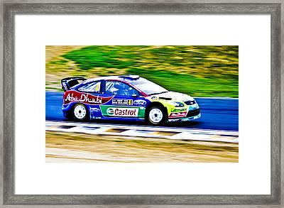2010 Ford Focus Wrc Framed Print by motography aka Phil Clark