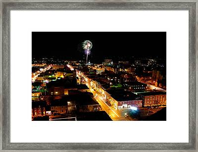 2010 New Years Eve Fireworks Framed Print by Paul Wash