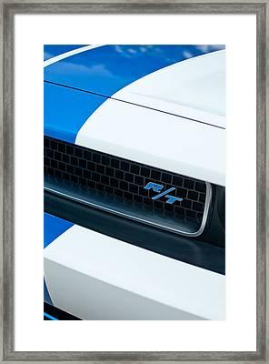 2011 Dodge Challenger Rt Grille Emblem Framed Print by Jill Reger