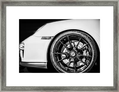 2011 Porsche 997 Gt3 Rs 3.8 Wheel Emblem -0998bw Framed Print by Jill Reger