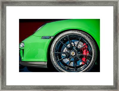 2011 Porsche 997 Gt3 Rs 3.8 Wheel Emblem -0998c Framed Print by Jill Reger