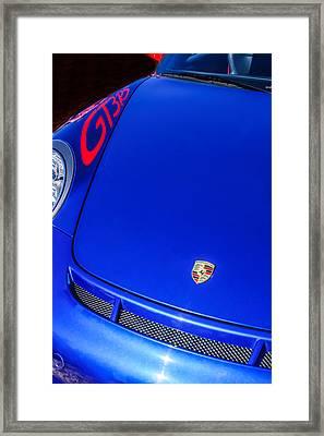 2011 Porsche Gt 3 Rs Hood Emblem -0710c Framed Print by Jill Reger