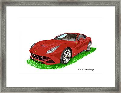2012 F12 Ferrari Berlinetta Gt Framed Print by Jack Pumphrey